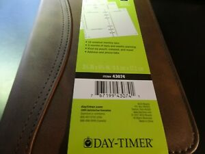 Day timer Undated Distressed Sim Leather Planner Extras 6 Ring 3 3 4 X 6 3 4