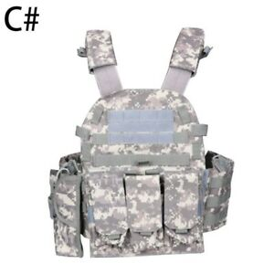 Hunting Tactical Vest Military Assault Combat Plate Airsoft Tactical Accessoris $38.10