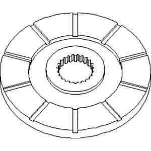 Disc 70277357 Fits White oliver minneapolis Moline 2655 A4t1400 A4t1600 G1000