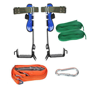 1 Set Tree Climbing Gear Safety Harness Belt Spike Shoes Adjustable Rope Lanyard