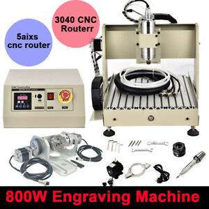 800w Vfd 5 Axis 3040 Cnc Router Engraver Wood Milling Water Cooled 400hz