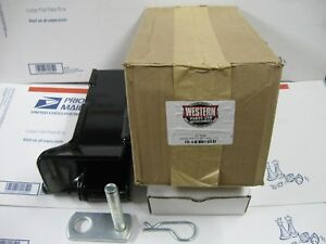 Western Oem Drivers Side Receiver Kit For Ultra Mount Snow Plow New In Box 67858
