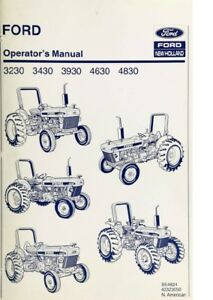 New Holland Ford Tractor Operator s Manual 3230 3430 3930 4630 4830 Digital