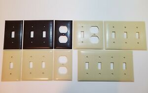 Vintage Sierra Bakelite Wall Plate Cover Switch Outlet Ivory Ribbed MANY OPTIONS $7.99
