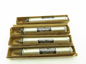 Round Pneumatic Air Cylinder 3 25 Stroke Single Acting Spring Return Lot Of 4
