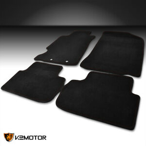 4pc Custom Fit 2002 2006 Acura Rsx Dc5 R Type Carpet Floor Mats W Red Stitches
