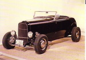 1932 Ford Roadster Highboy Hot Rod Postcard Lot Of 2 Must See