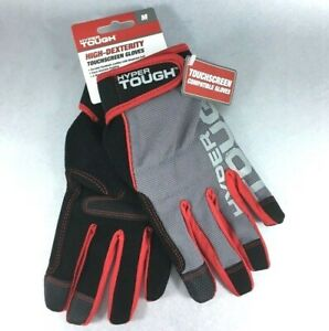 Hyper Tough Touchscreen Reinforced Palm Knuckle Protection Gloves Spandex New