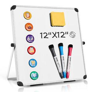 Dry Erase White Board Double Side Magnetic Home Office Reminder Standing hanging