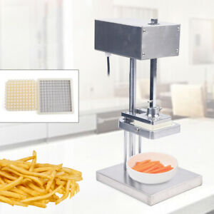 Stainless Steel 25w Electric French Fry Cutter Potato Strips Fries Chip Maker
