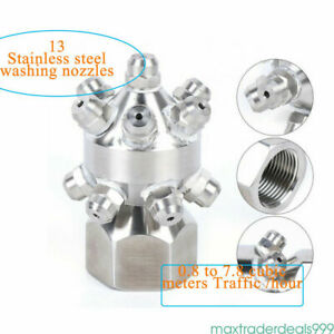 13pc Nozzle 1 Inch Tank Washing Nozzle Solid Cone Nozzle Water Rotating Cleaning
