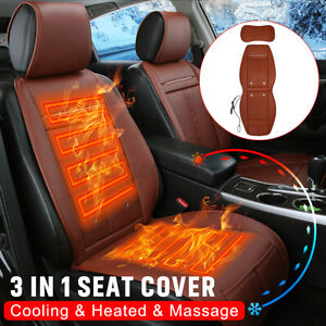 Universal Auto Cooling Massage Seat Cover 3 In 1 Car Heated Cushion