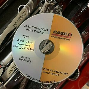 Case Ih 2388 Axial Flow Combine Bsn jjc0276540 And Under Parts Catalog List