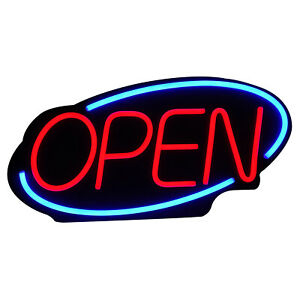 Commercial Led Open Sign Bar Club Store Shop Display Pvc Neon Light Bright