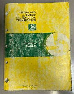 John Deere Amt600 And Amt622 All Material Transporter Technical Manual Tm1363 X5