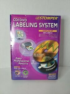 Cd Stomper Professional Edition Cd dvd Labeling System Complete Kit 600 Labels