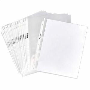 For A4 Paper Sleeves Clear Sheet Page Protector Document Office Ring Binder