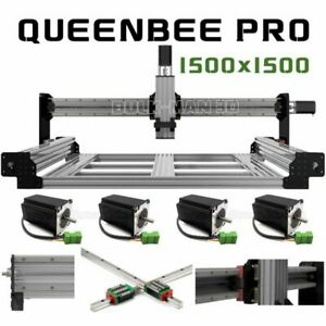 1500 1500mm Queenbee Pro Cnc Router Machine 4 Axis Mechanical Kit
