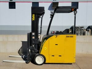 2014 Yale Esc040acn36tq090 Electric Narrow Aisle Forklift Forktruck Crown Hyster