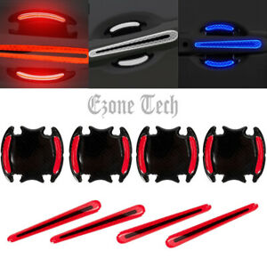 New Listing8x Reflective Car Door Handle Protective Film Sticker Safety Strip Warning Decal