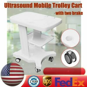 Trolley Mobile Cart Hand Push For Portable Ultrasound Scanner With Two Brake New
