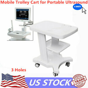 Mobile Rolling Trolley Cart For Ultrasound Imaging System Scanner Portable New