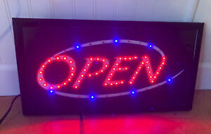 Bright Animated Led Neon Open Sign Bar Shop Business 19 X 10 Bright