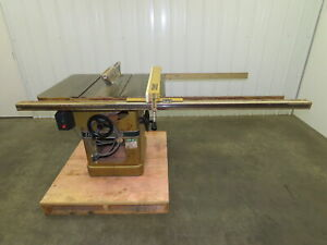 Powermatic Model 66 Table Saw 10 Tilting Arbor 3 Phase 5 Hp 240 480v 52 Fence