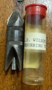 L.E. WILSON DEBURRING CHAMFERING TOOL RELOADING LIKE RCBS LEE .17 .45 EXCELLENT $11.95