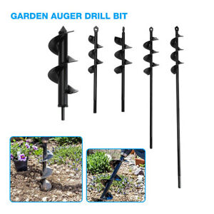 Planting Auger Spiral Hole Drill Bit For Garden Yard Earth Bulb Planter Durable