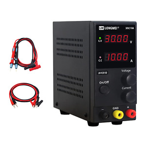 Dc Power Supply Variable 30v 10a 4 Digital Led Display Adjustable Regulated With