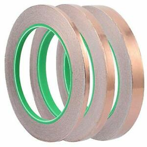 Eyech 3 Sizes Copper Foil Shielding Tape Set Conductive Self Adhesive Heat In