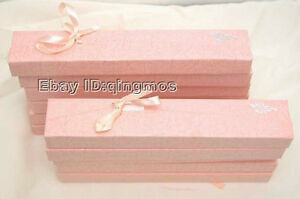 Sale Wholesale 12x Pink And Red 190x40x20mm China Tie Jewelry Necklace Gift Box