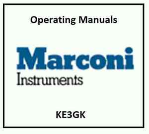 Marconi Instruments Programming Service And Operating Manuals Cdrom Pdf