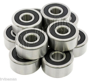 Lot Of 10 Quality Sealed Ball Bearings 6004 2rs Atv 6004rs Pack Wholesale Lots
