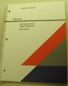 Tektronix Dm 5110 511 Digi Multimeter Inst Manual