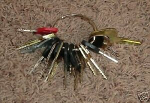 18 Keys Heavy Construction Equipment Key Set New