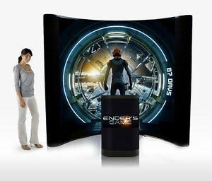 8ft Trade Show Pop up Display Booth Brand New With Printed Graphics