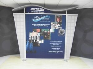 10ft Modern Look Satsaver Metal Trade Show Display Your Graphics Needed