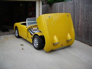 New 1958 61 Austin Healey Bugeye Sprite Front Tilting Hood Kit Bonnet Upgrade
