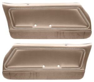 1978 1981 Firebird Trans Am Custom Deluxe Interior Door Panel Set Camel Tan