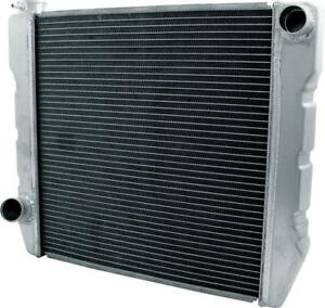 New Universal Ford Mopar Fabricated Aluminum Radiator 26 X 19 X3 Overall