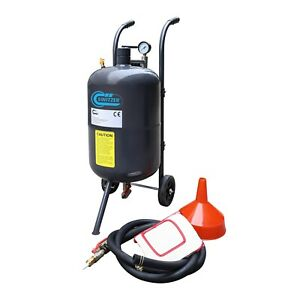 Switzer Portable Sand Blaster 38l 10 Gallon Mobile Sand Bead Blasting Gun Incl
