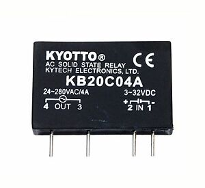 20pc Kyotto Ac Solid State Relay Ssr Kb20c04a Load 28 280vac 4a Dc To Ac