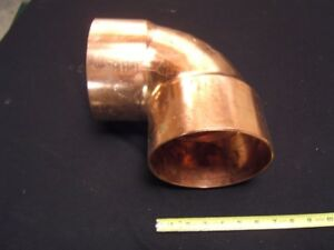 Copper Pipe Fitting 6 Inch 90 Degree New