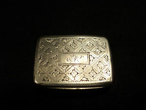 English Gorgian Sterling Silver Vinaigrette Matthew Linwood C 1818