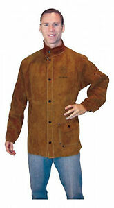 Tillman 3830 X large Dark Brown Leather Welding Jacket 3830xl