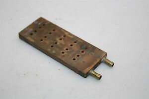 Peltier Thermoelectric Water Cooling Temperature Metal Module 2 Pipe 73x29x5mm