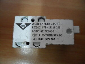 Microwave 26 Ghz Bp Filter 2 Port Wr42 26119 26479mhz