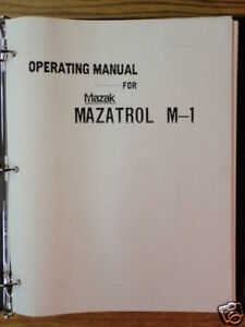 Mazak Cnc Mazatrol M 1 Mill Hmc Vmc Operating Manual